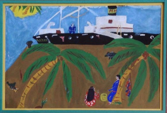 Une des premières peintures - Tahiti 1964