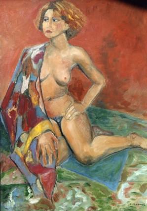femme-etole-huile-chantal-darmet-94004