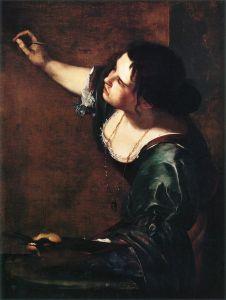 autoportrait d'Artemisia, femme peintre italienne